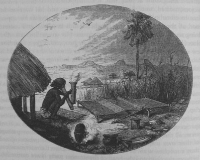 Depiction of weaving by David Livingstone 1865